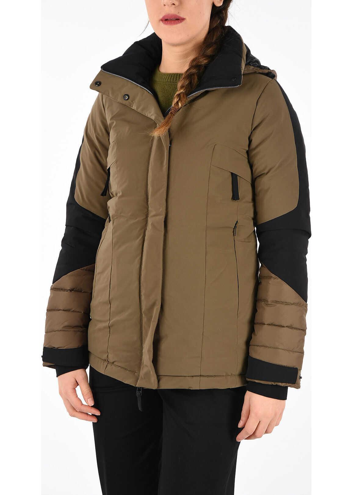 Duvetica Hooded ELERI Down Jacket BROWN