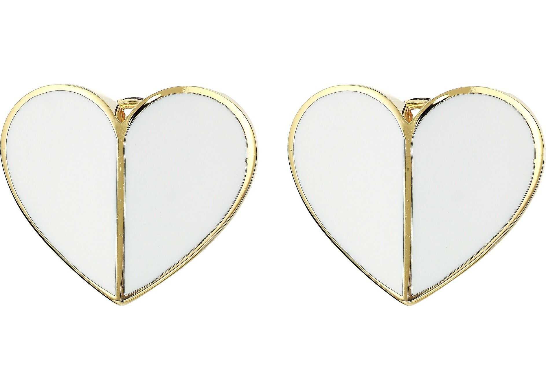 Kate Spade New York Heritage Spade Heart Statement Studs Earrings White
