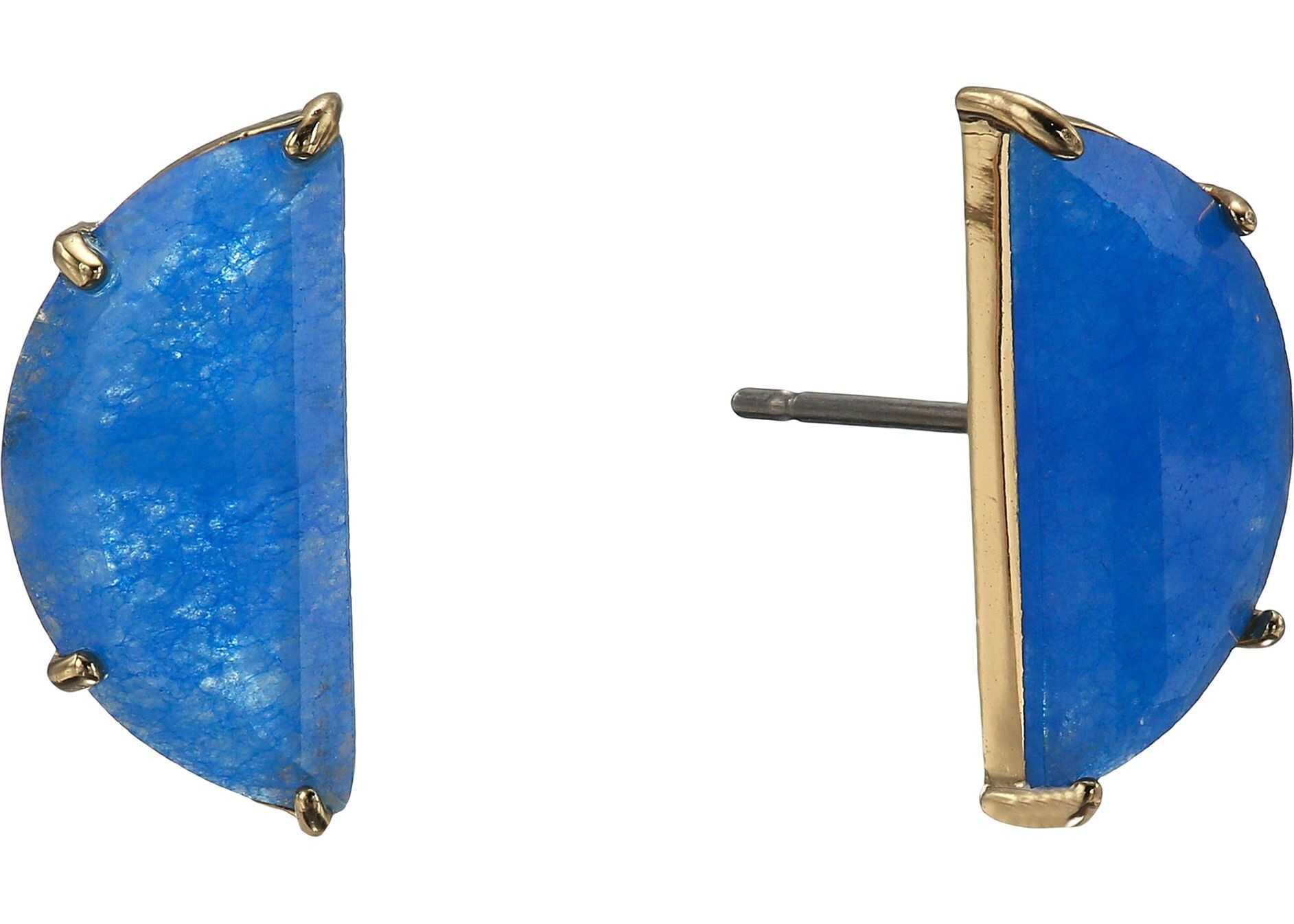 Kate Spade New York Half Moon Mini Scallop Studs Earrings Blue