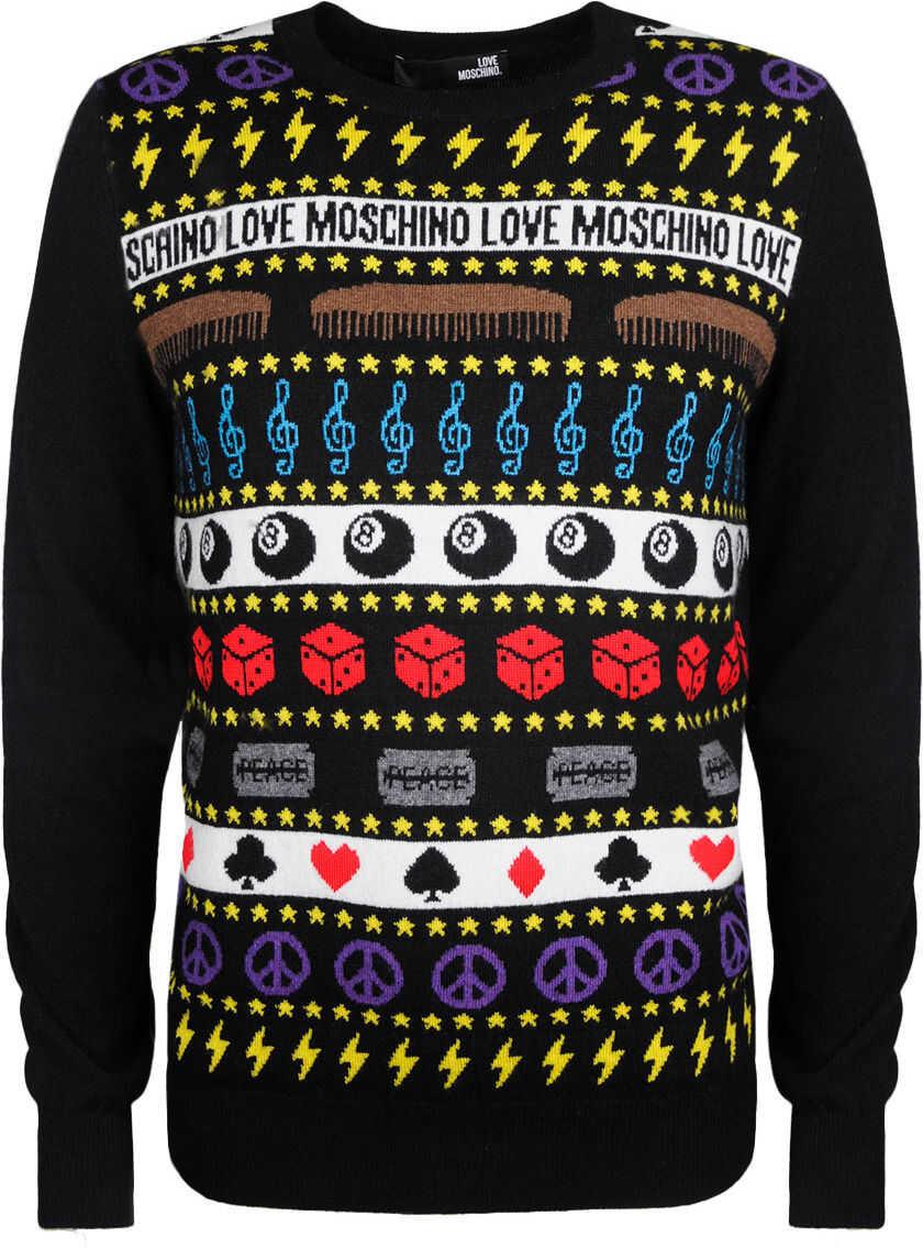 LOVE Moschino M* Czarny, Wielokolorowy