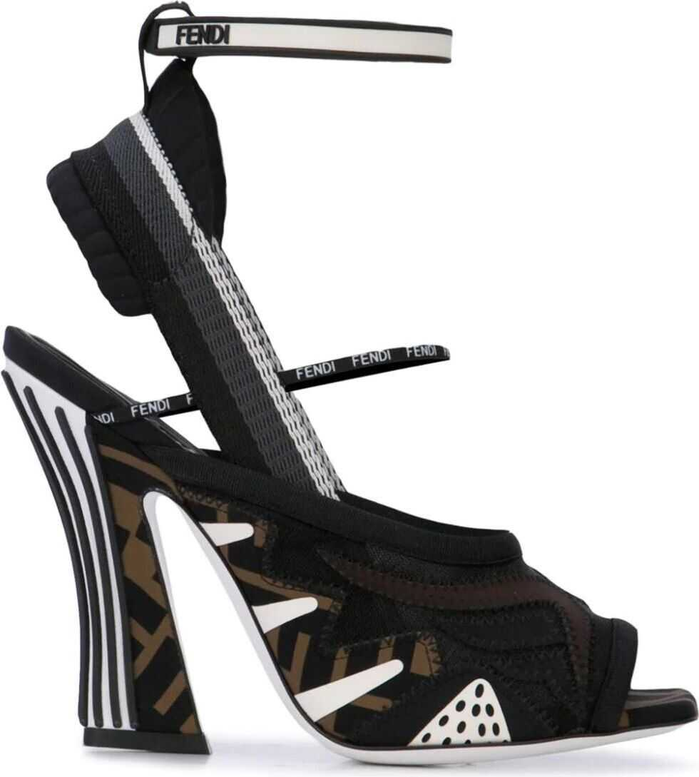 Fendi Synthetic Fibers Sandals BLACK