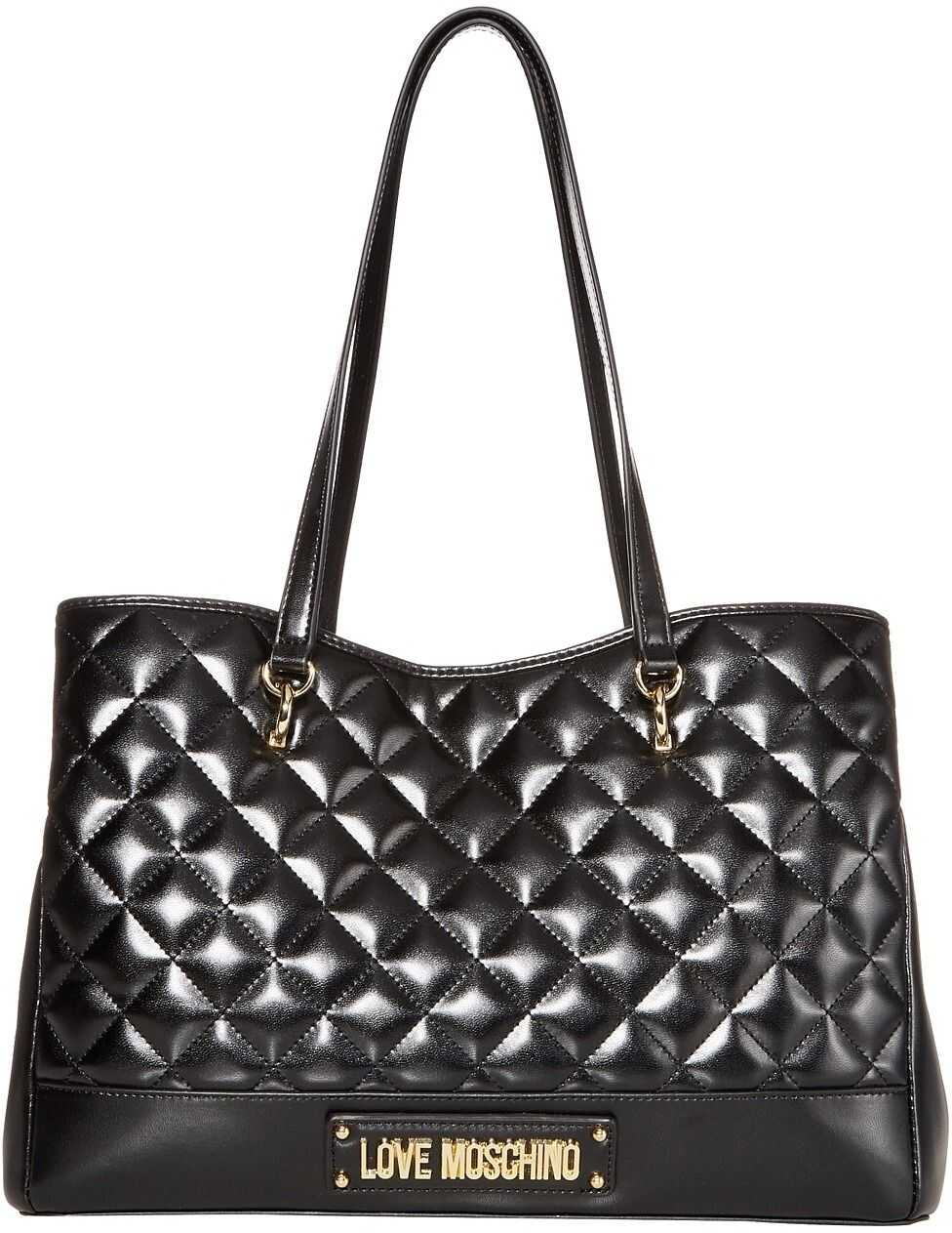 LOVE Moschino Shinny Quilted Bag Black