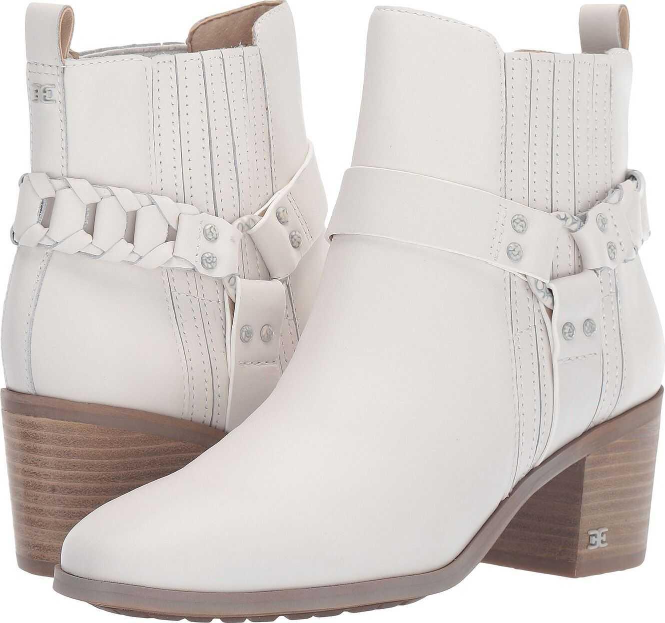 Sam Edelman Dalma Bright White Vaquero Saddle Leather