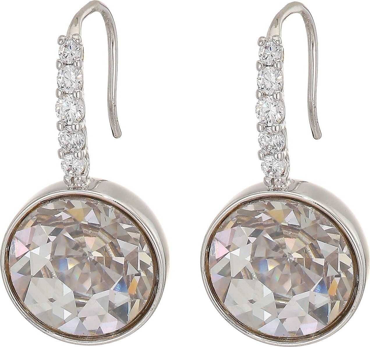 Kate Spade New York Reflecting Pool Pave Round Drop Earrings Clear/Silver