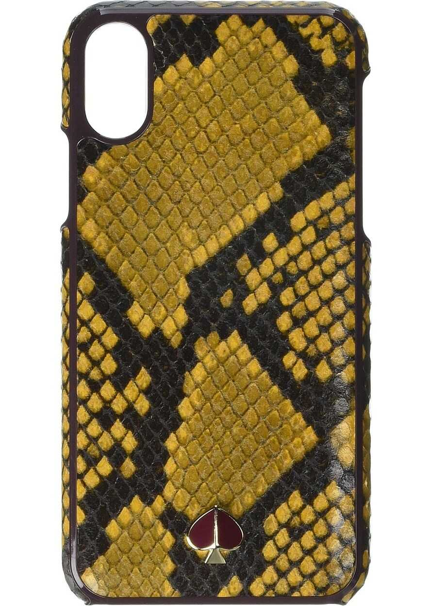 Kate Spade New York Snake Embossed Phone Case for iPhone XS Marigold
