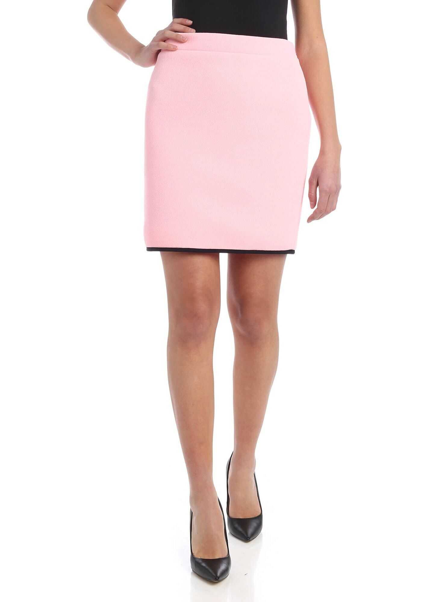 Moschino Black Edge In Skirt In Pink Pink