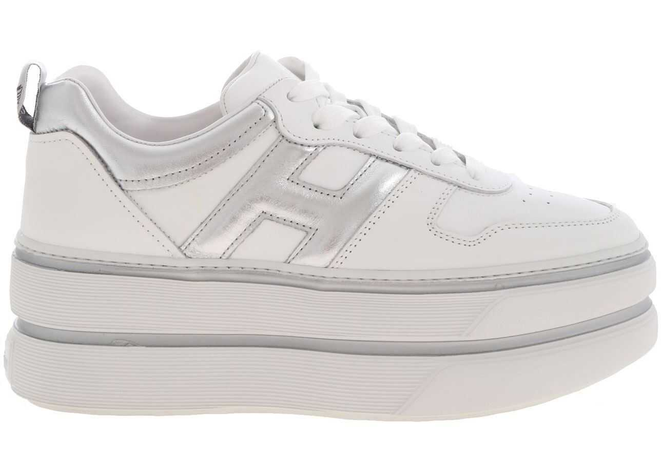 Hogan H449 Sneakers White And Silver White