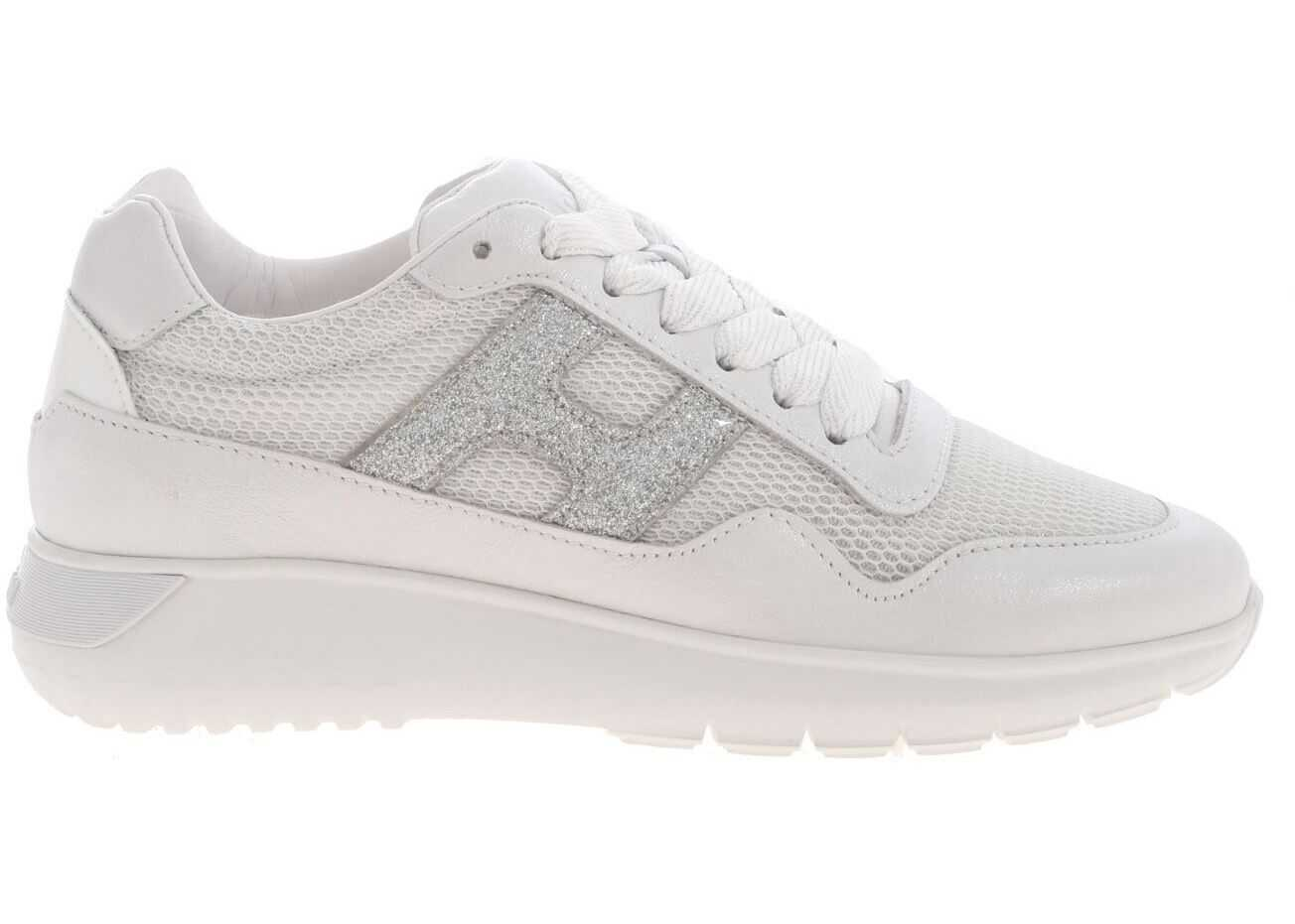 Hogan H371 Interactive Sneakers In White White
