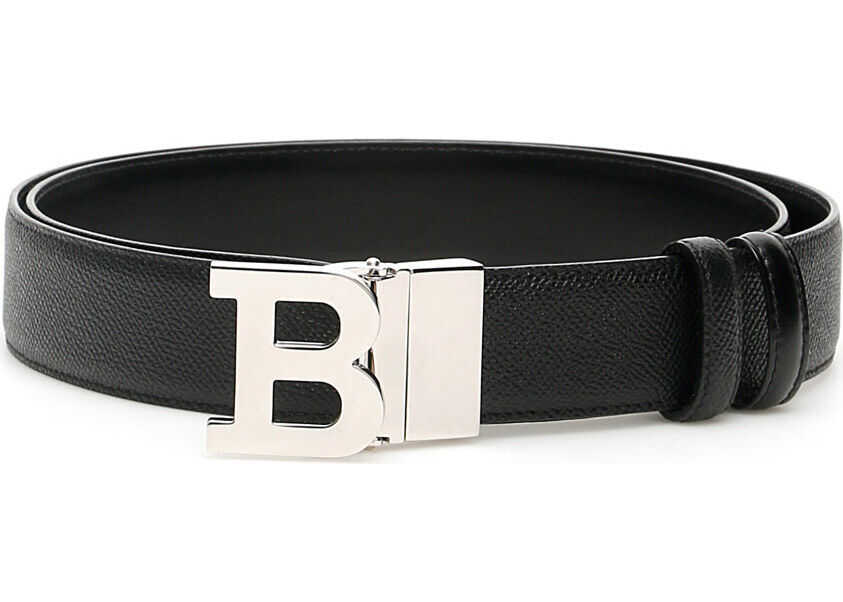 Bally Reversible B Buckle Belt BLACK