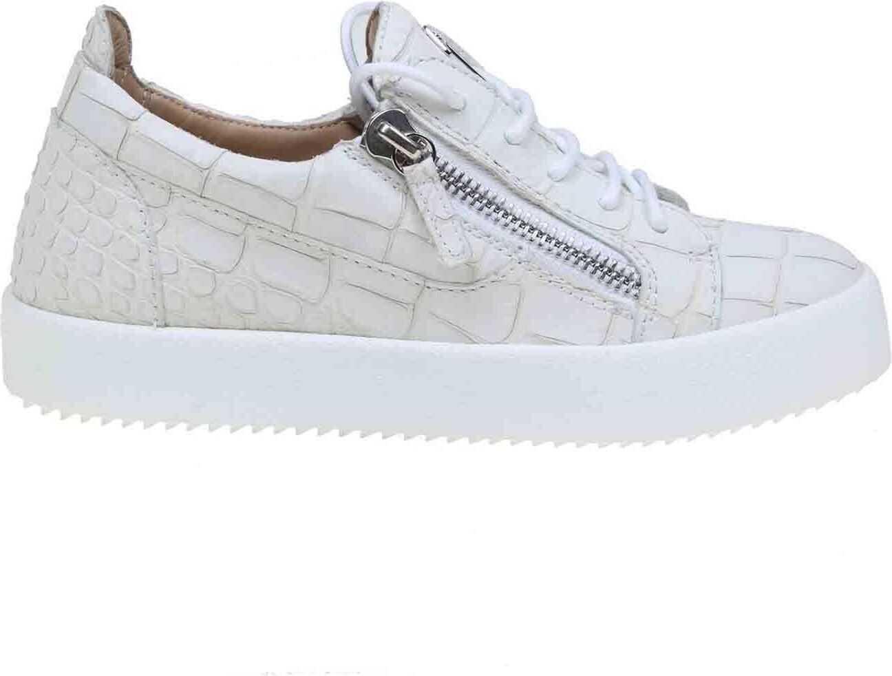 Giuseppe Zanotti Gail Coco Sneakers In White Leather White