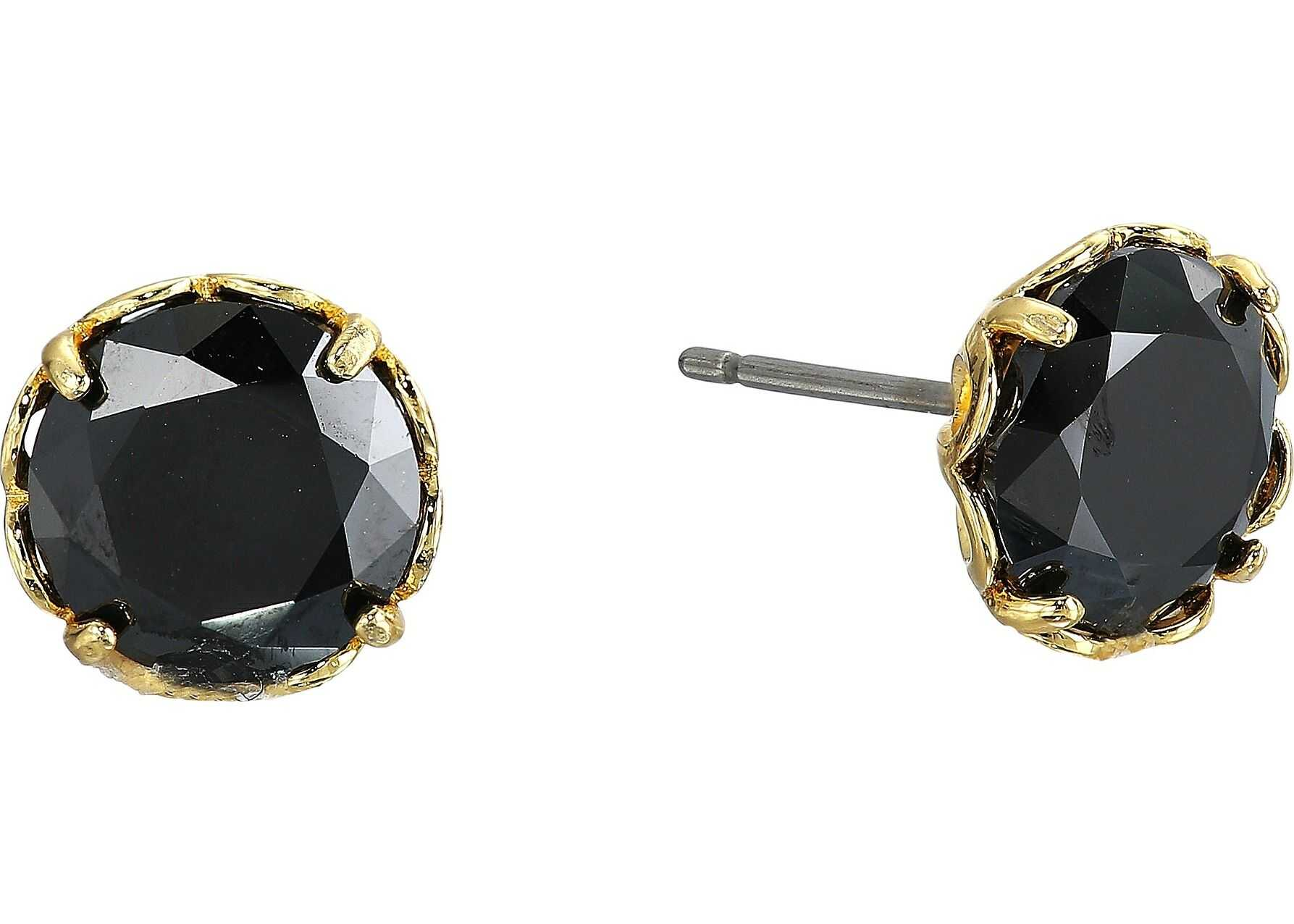 Kate Spade New York That Sparkle Round Earrings Jet