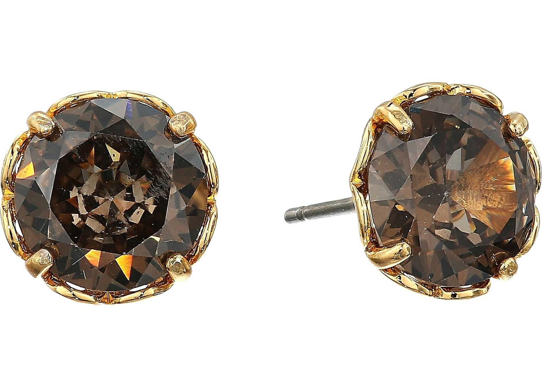 Kate Spade New York That Sparkle Round Earrings Black Diamond