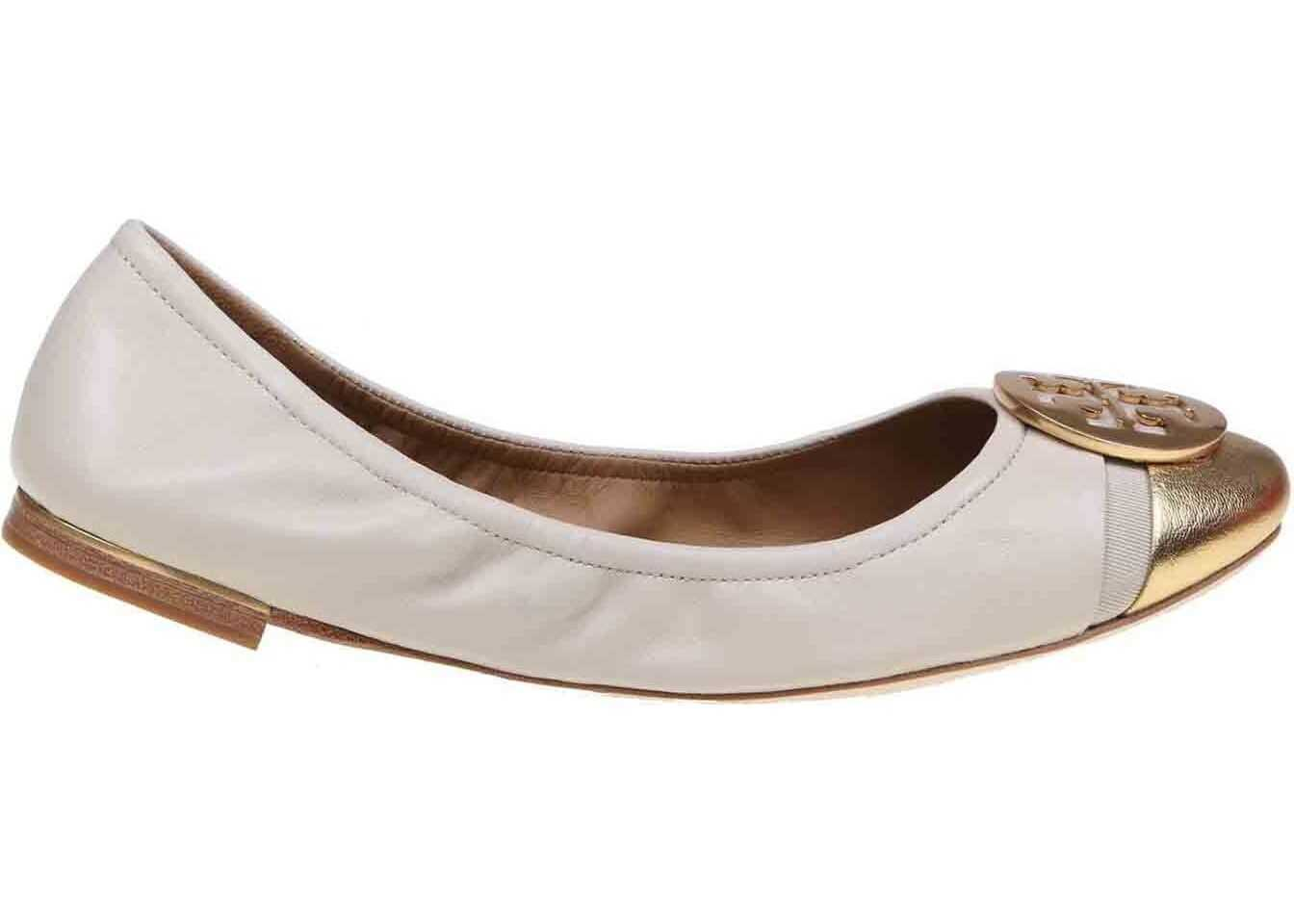 Minnie Cap-Toe Ballet Flats In Cream Color thumbnail