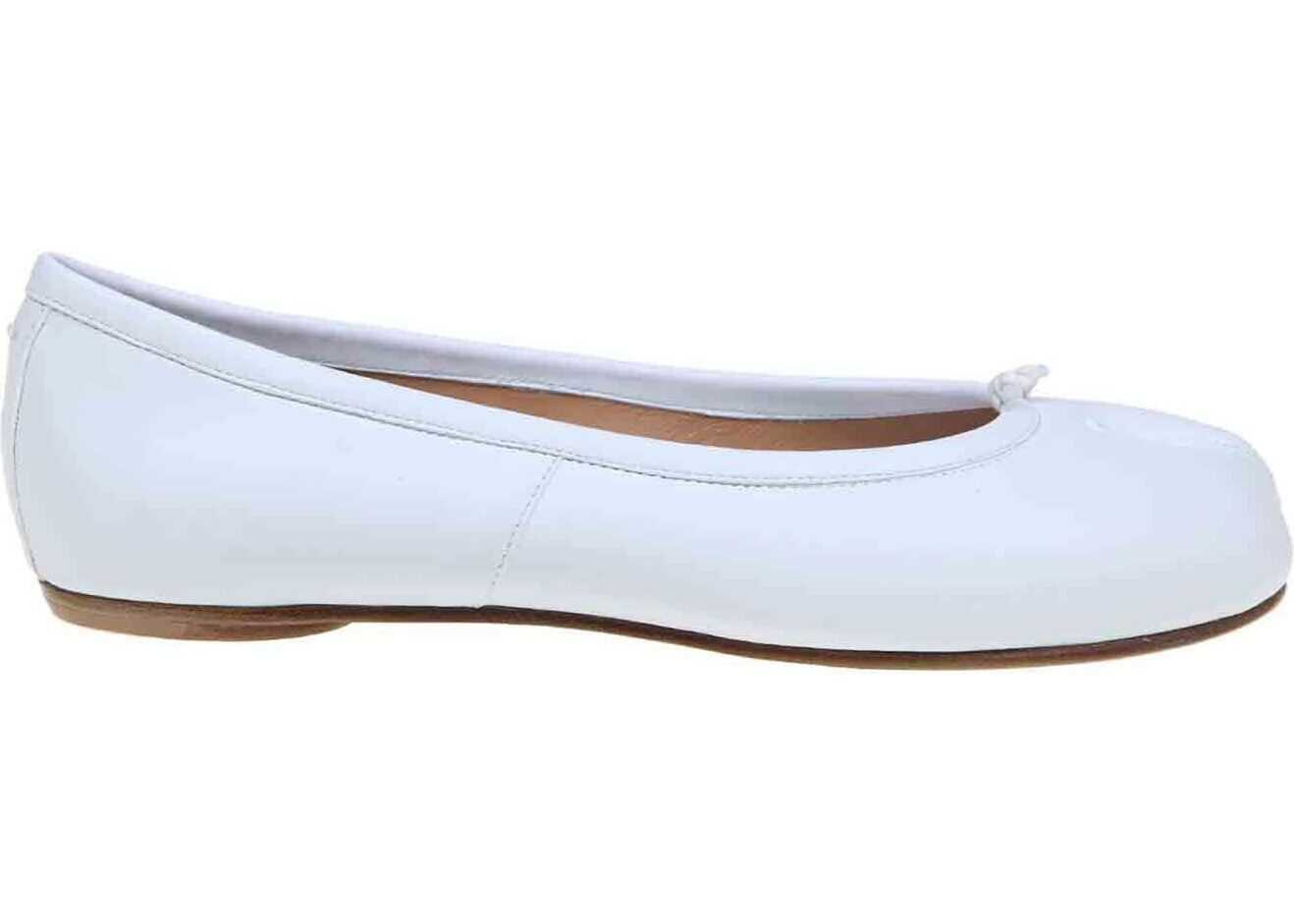 Tabi Ballerinas In White thumbnail