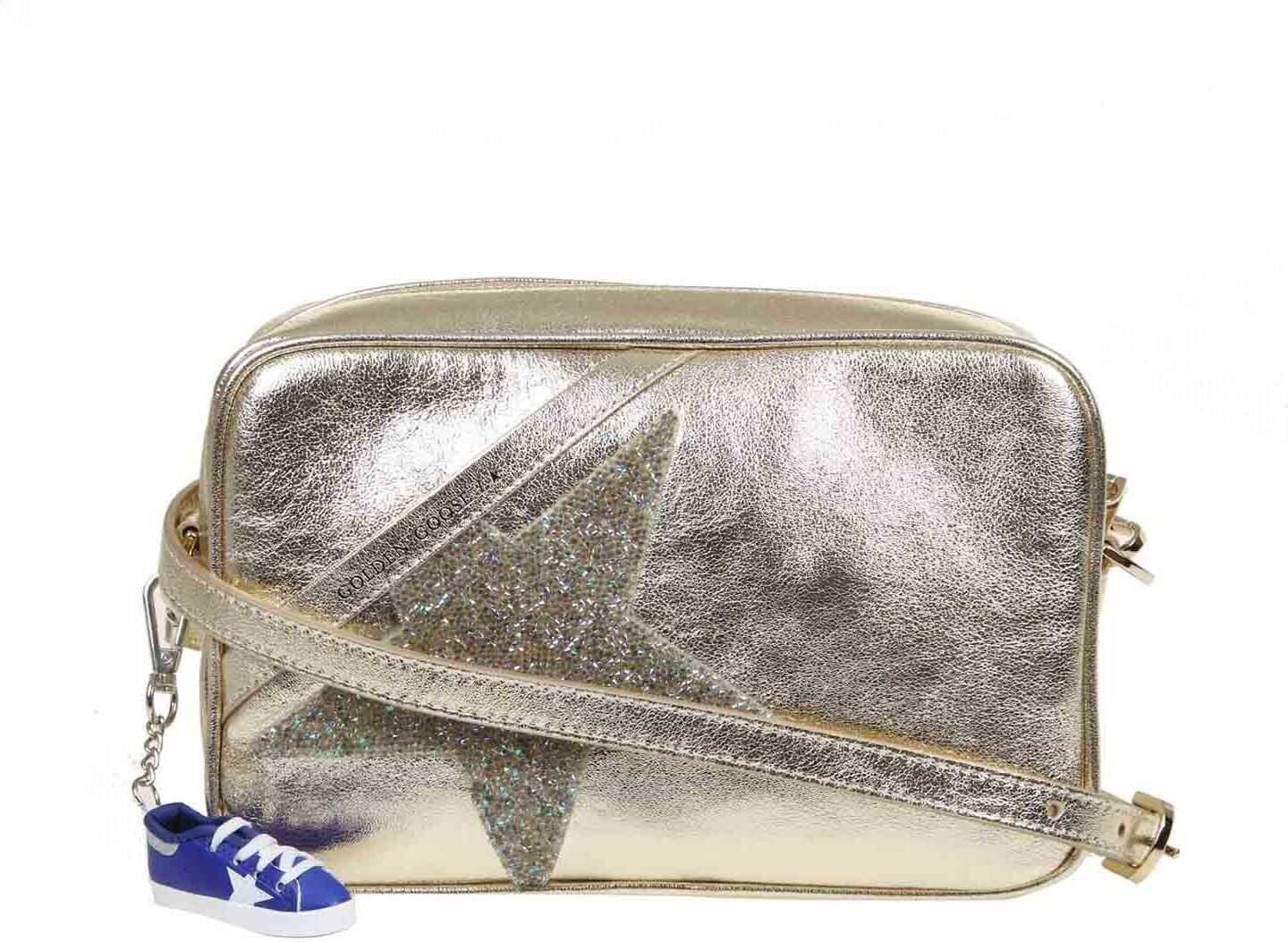 Golden Goose Star Shoulder Bag In Gold Gold
