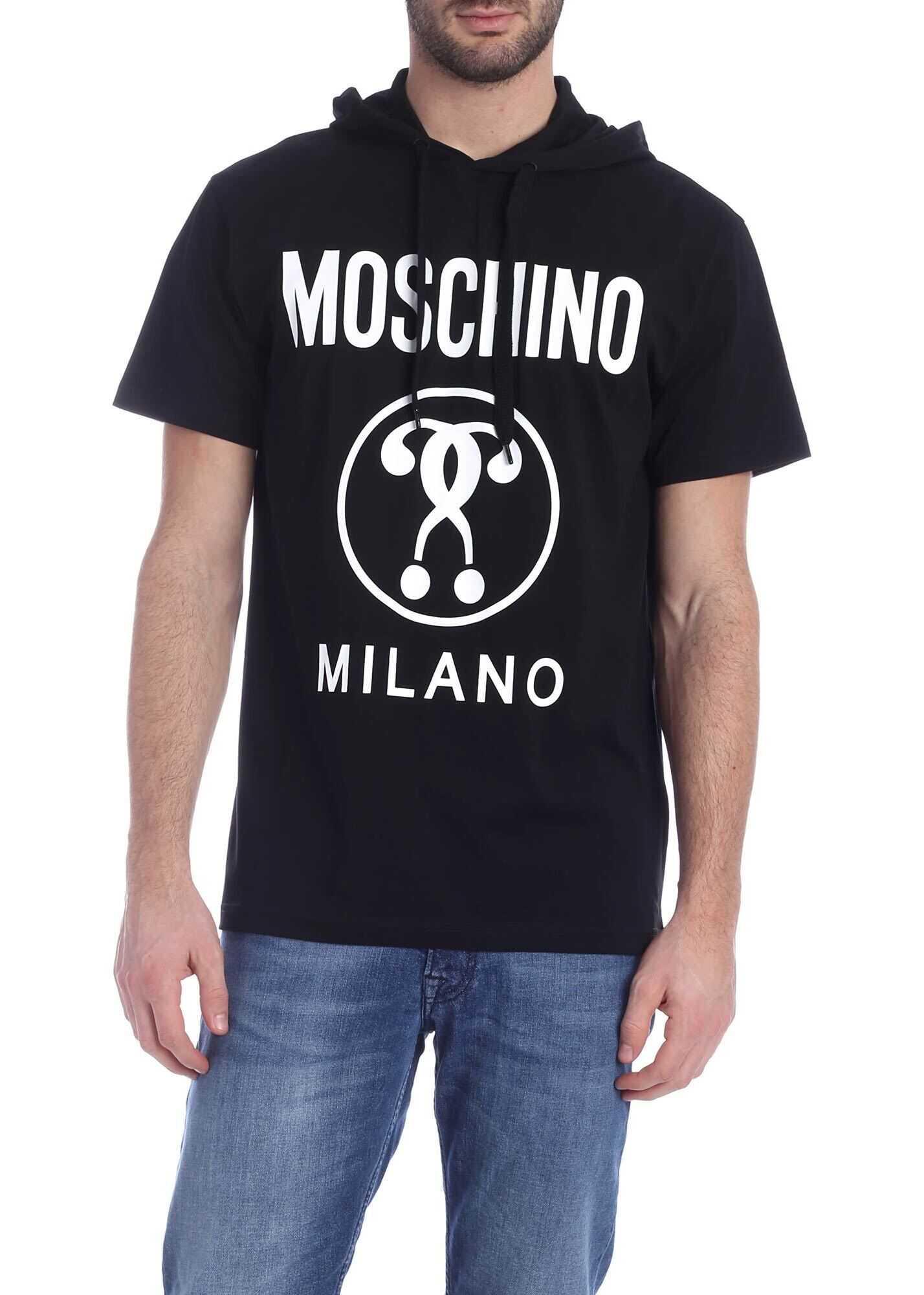 Moschino Hooded T-Shirt In Black Black