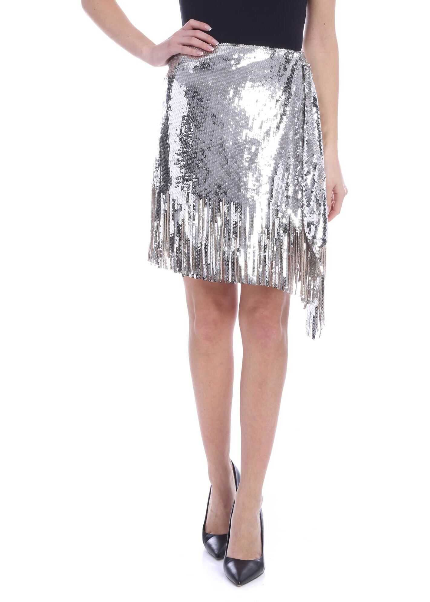Ratatouille Skirt In Silver thumbnail