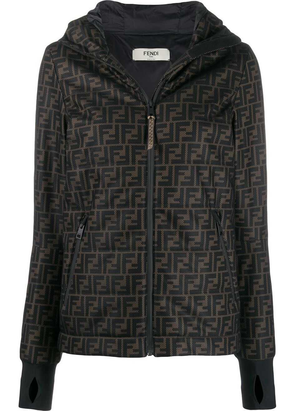 Fendi Polyester Outerwear Jacket BROWN