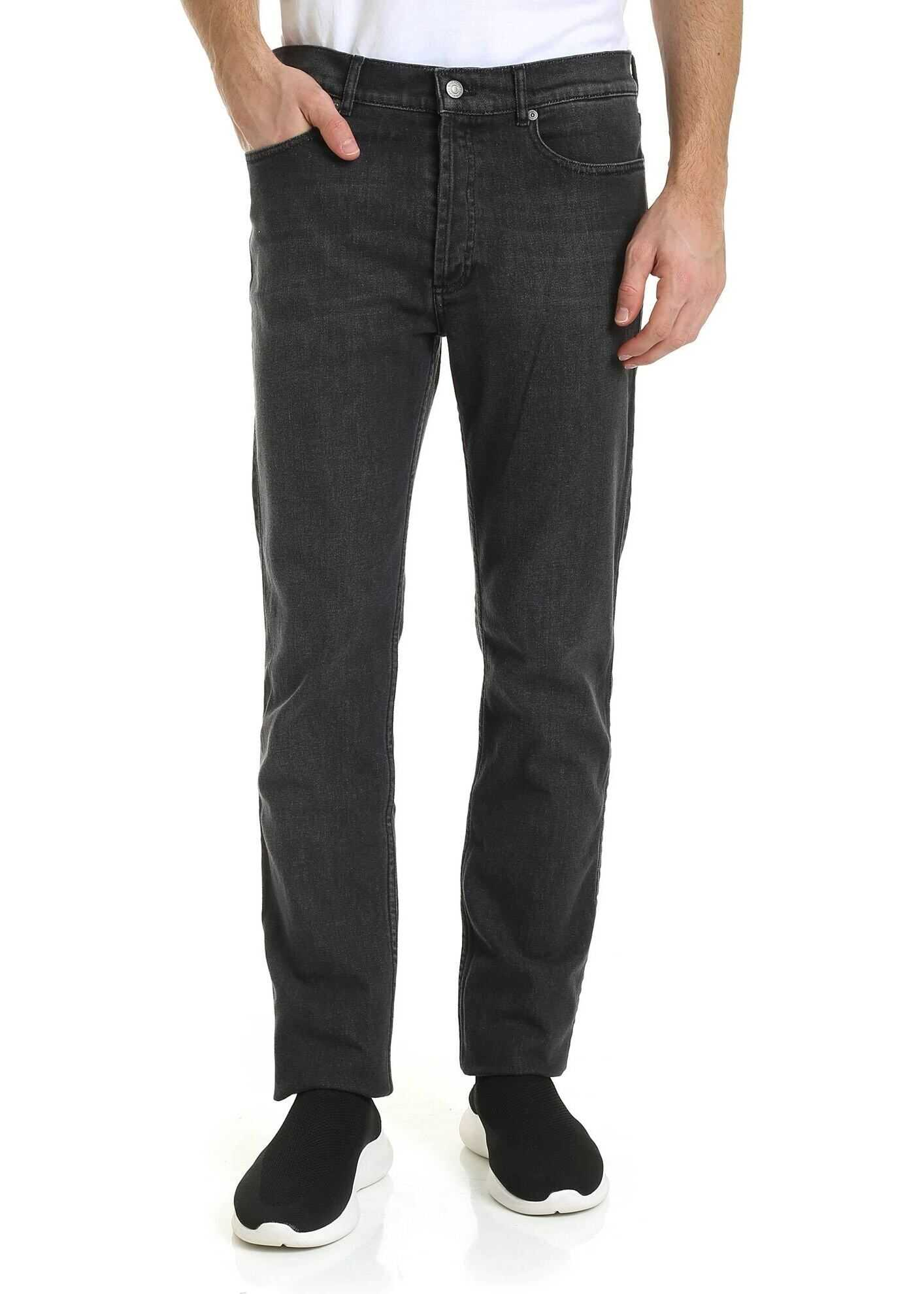 Givenchy Givenchy Print Jeans In Black Black
