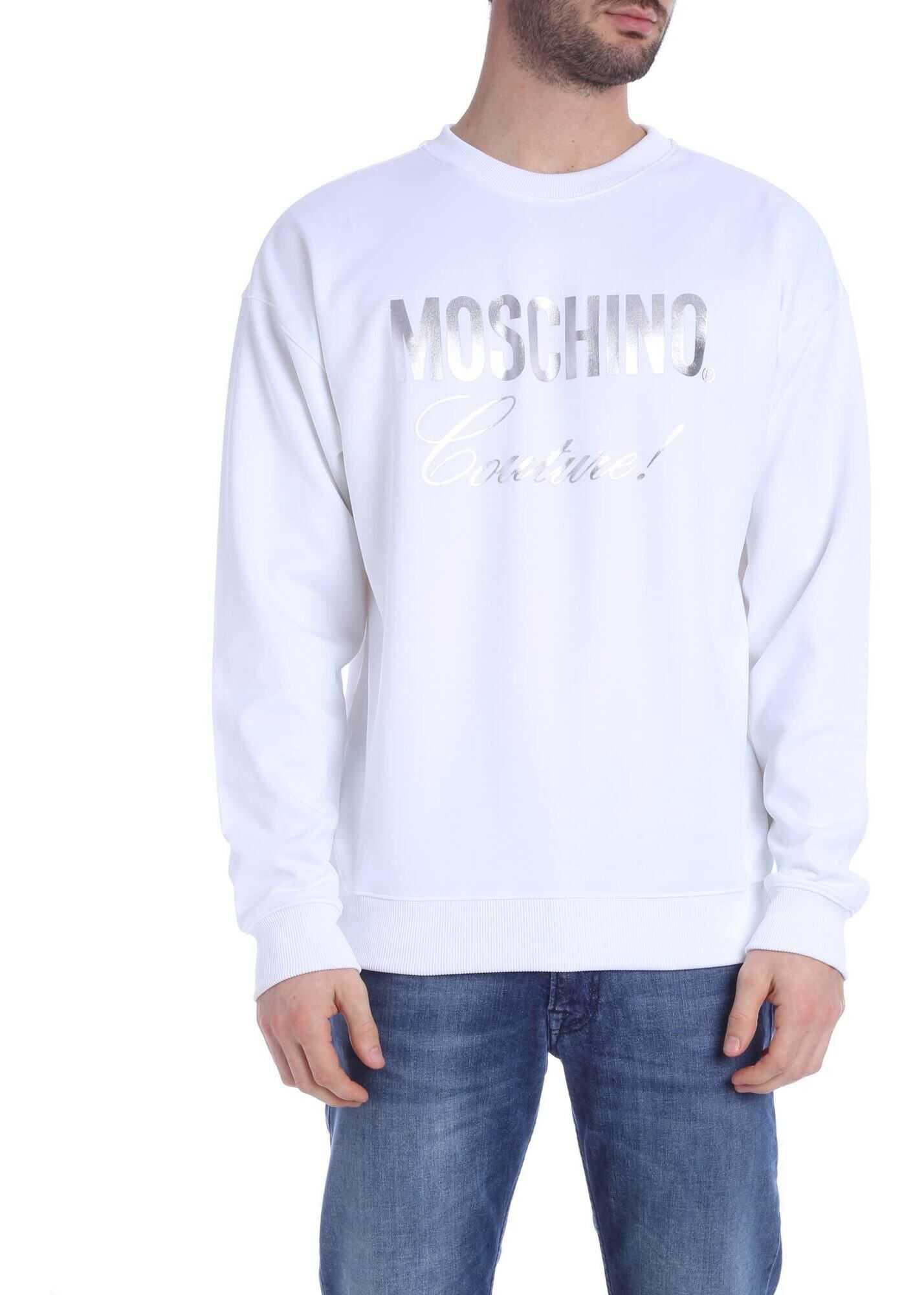 Moschino Moschino Couture Print Sweatshirt White White imagine