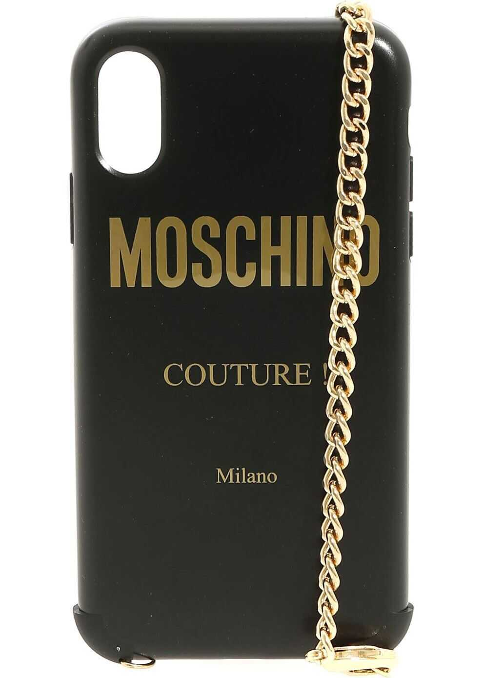 Iphone Xr Cover In Black With Moschino Logo thumbnail