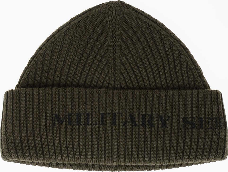 Neil Barrett Wool Blend MILITARY SERIES Hat GREEN
