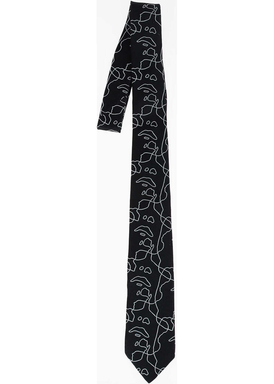 Neil Barrett Printed ALL-OVER SIOUXIE Tie BLACK
