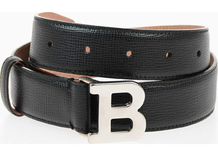 Bally 30mm Leather Belt BLACK