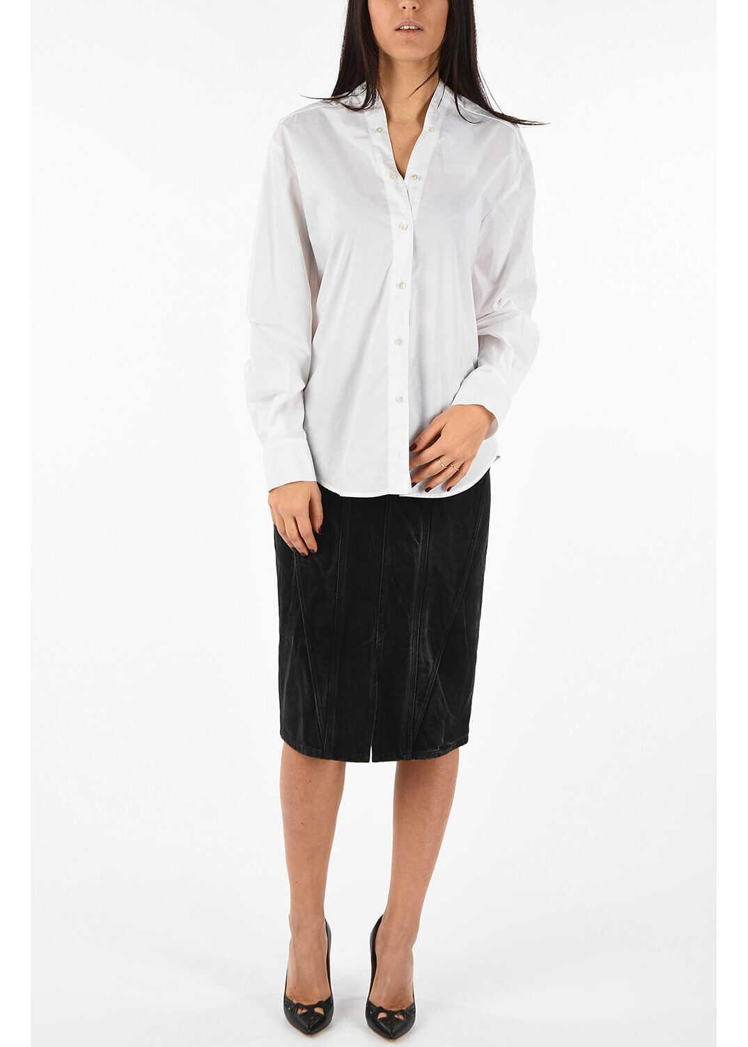 Denim Double Split Skirt thumbnail