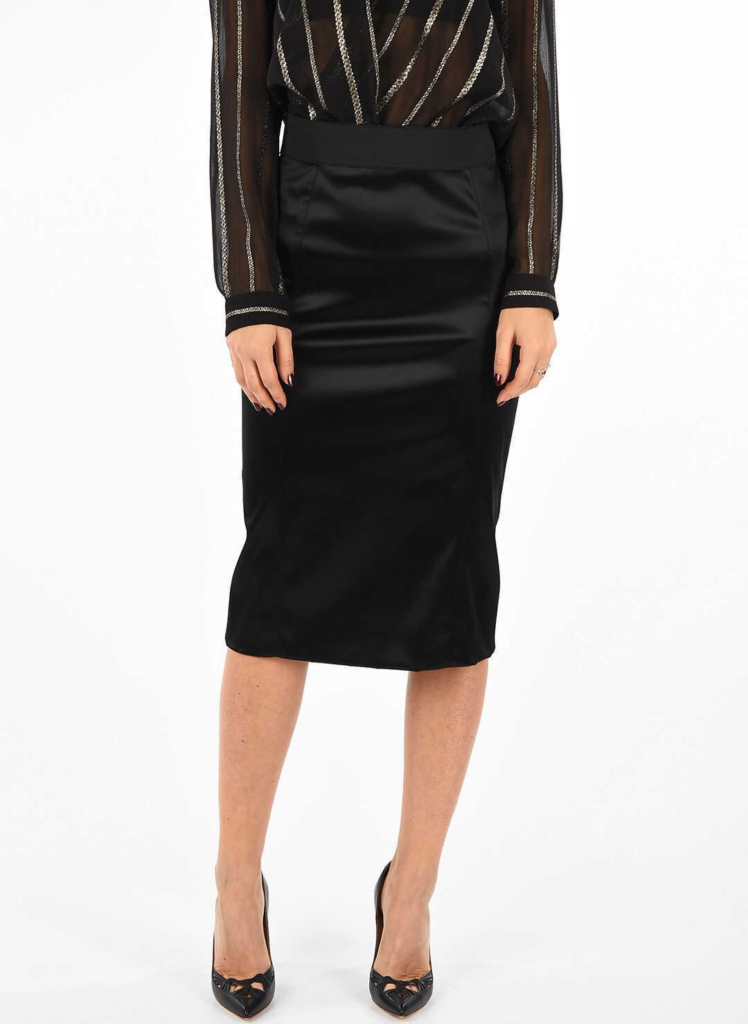 Dolce & Gabbana Slit Skirt BLACK