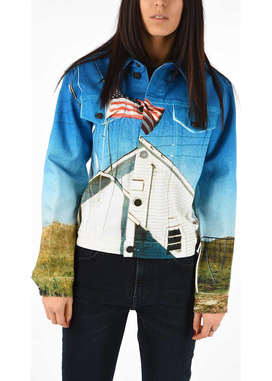 Calvin Klein 205W39NYC Denim Printed Jacket MULTICOLOR