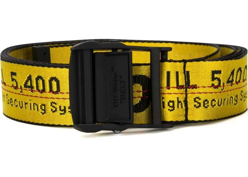 Off-White Synthetic Fibers Belt YELLOW