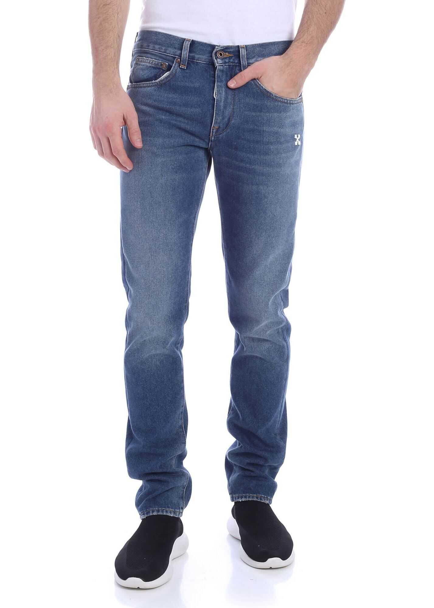Off-White Diag Blue Jeans Blue
