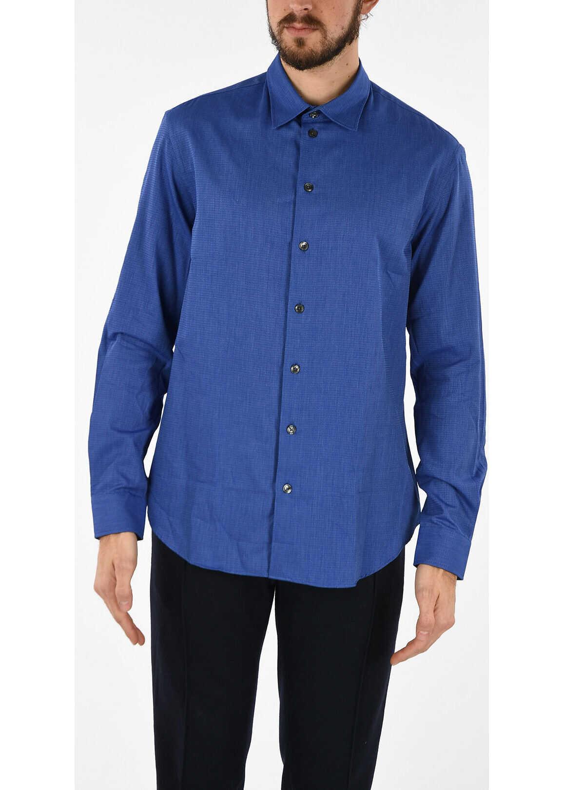 Armani Cotton Popeline Shirt BLUE