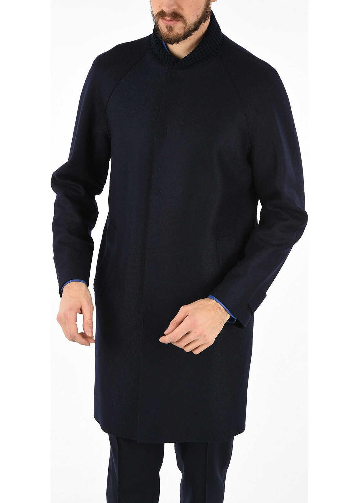 Armani EMPORIO Wool Coat BLUE