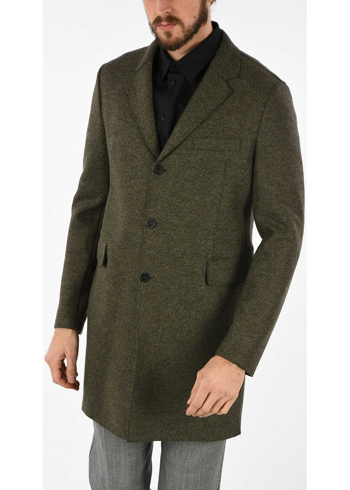 Armani EMPORIO Wool Coat GREEN