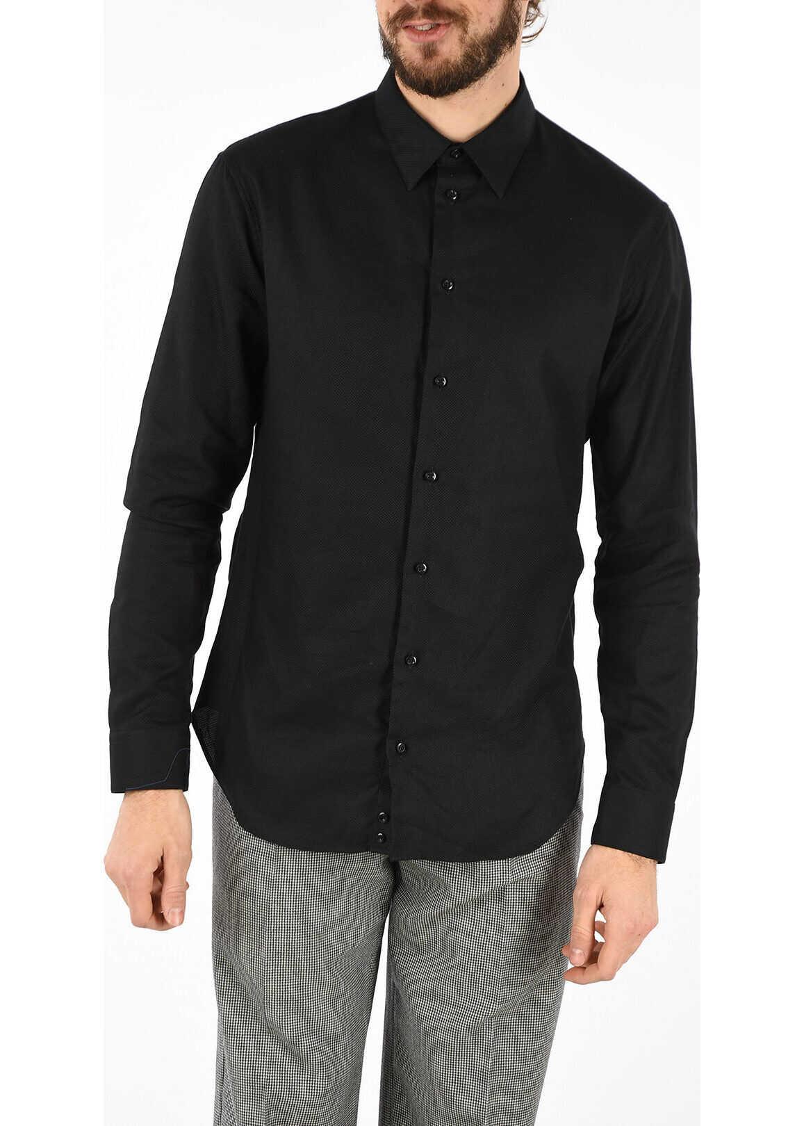 Armani EMPORIO Cotton Popeline Shirt BLACK