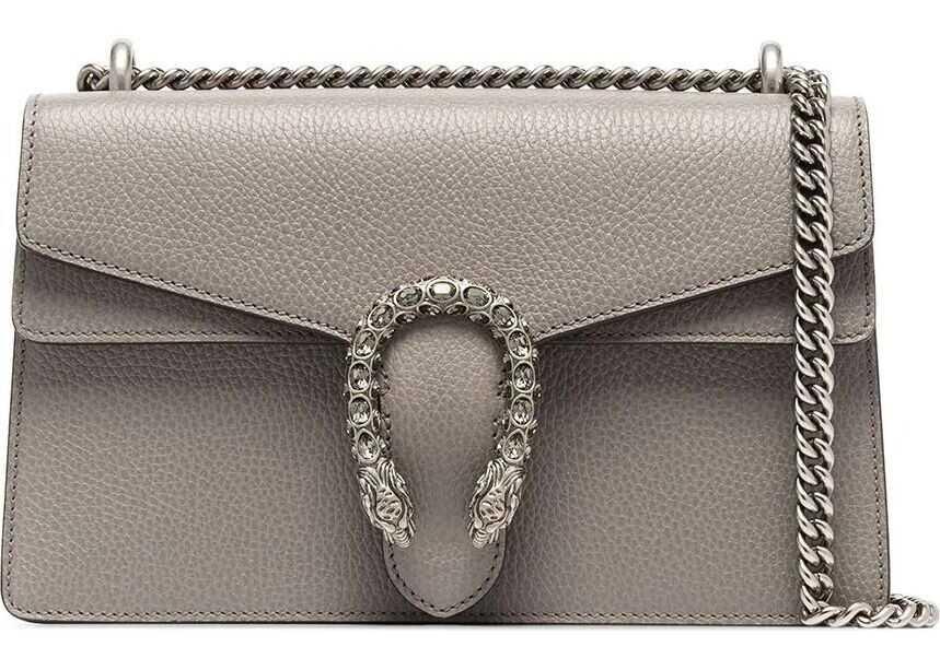 Gucci Leather Shoulder Bag GREY