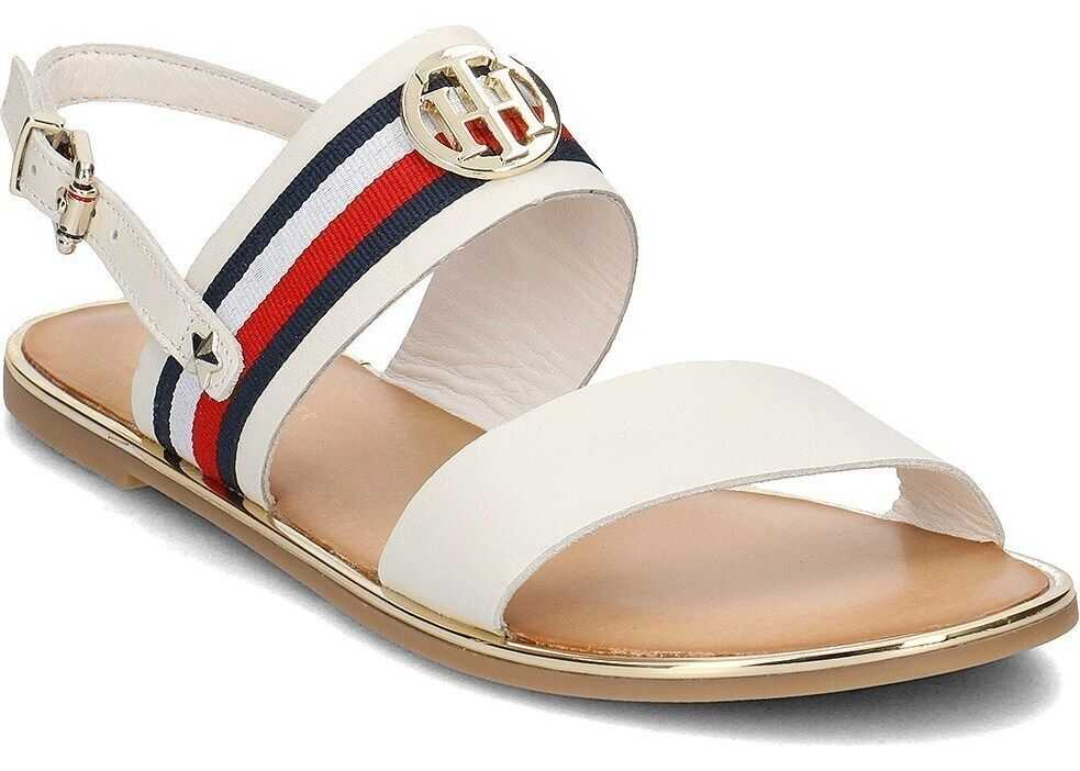 Tommy Hilfiger Corporate Ribbon Flat Sandal Whisper FW0FW02811121 ALB
