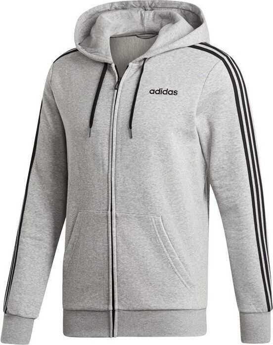 adidas Essentials 3 Stripes Fullzip Fleece DU0476 GRI