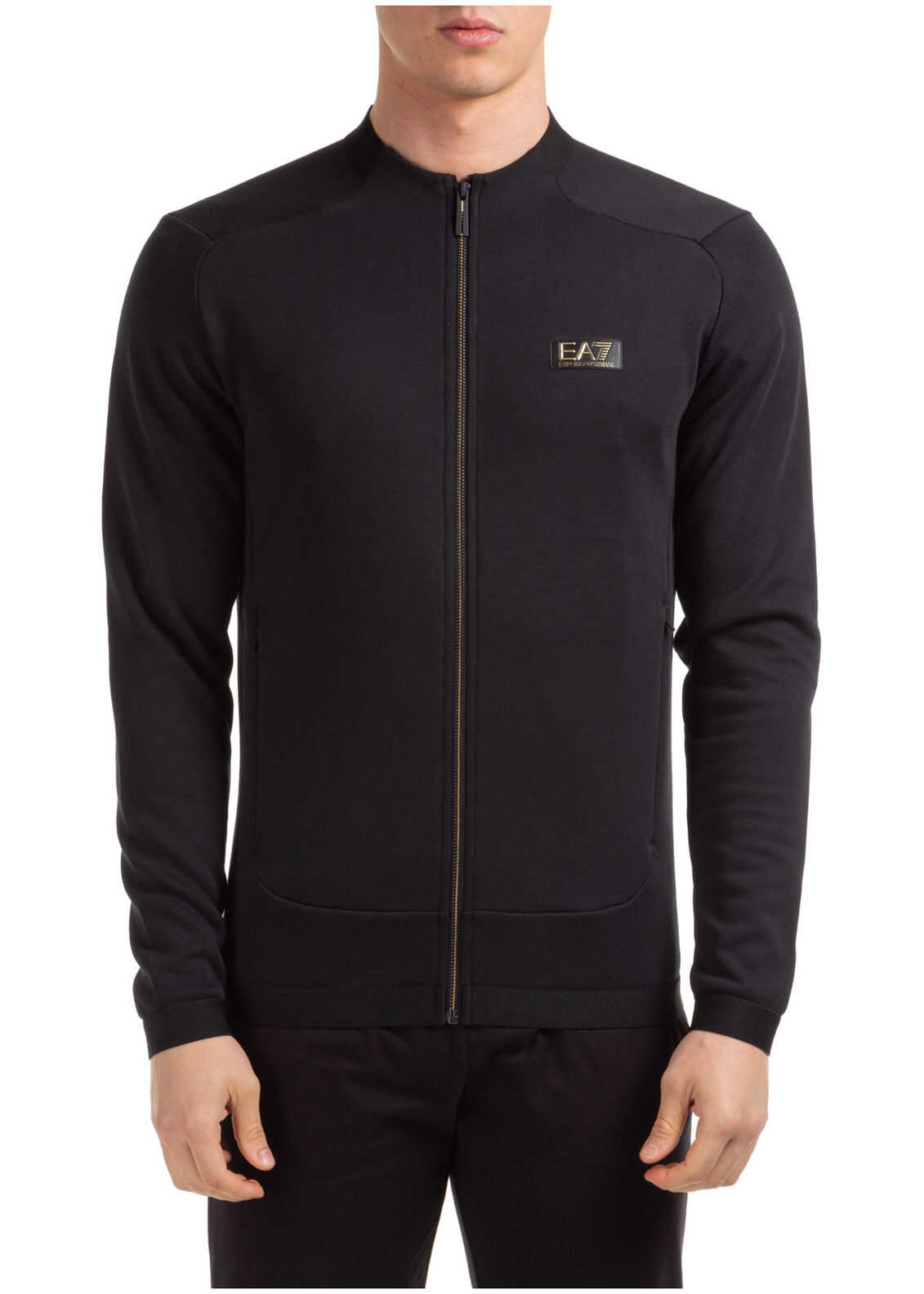 EA7 Zip Sweat Black