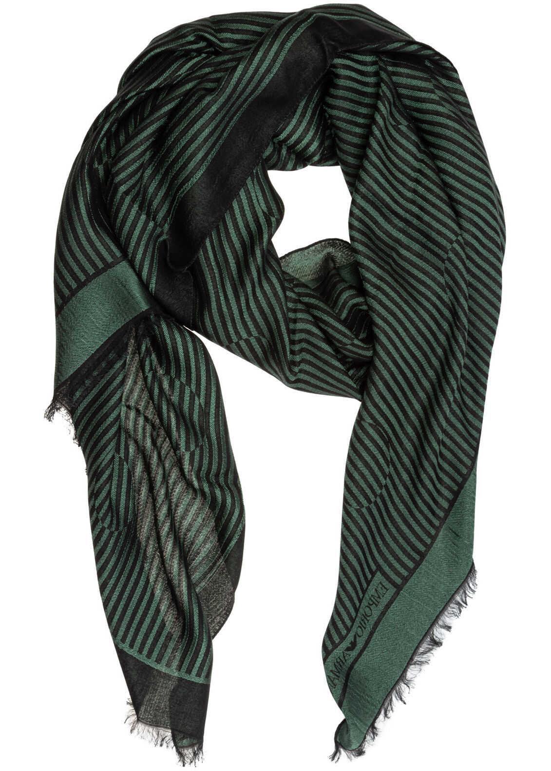 Emporio Armani Silk Stole Green