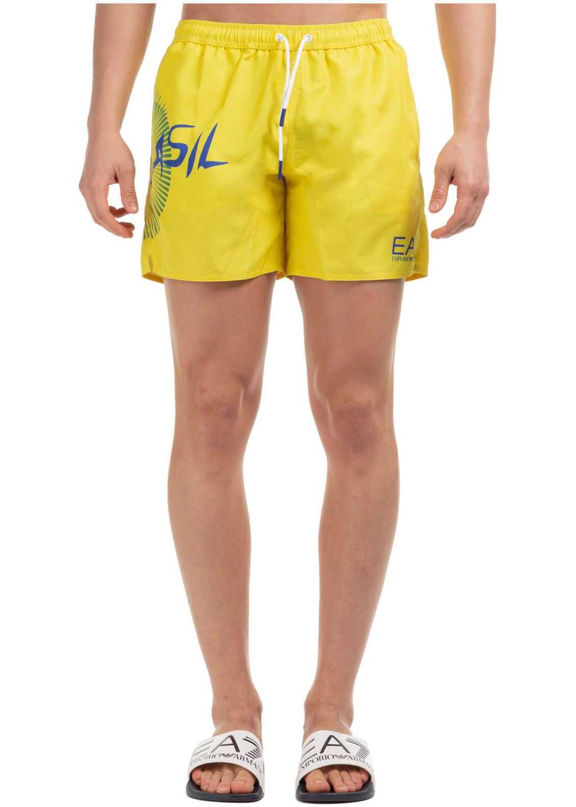 EA7 Swimming Suit Yellow