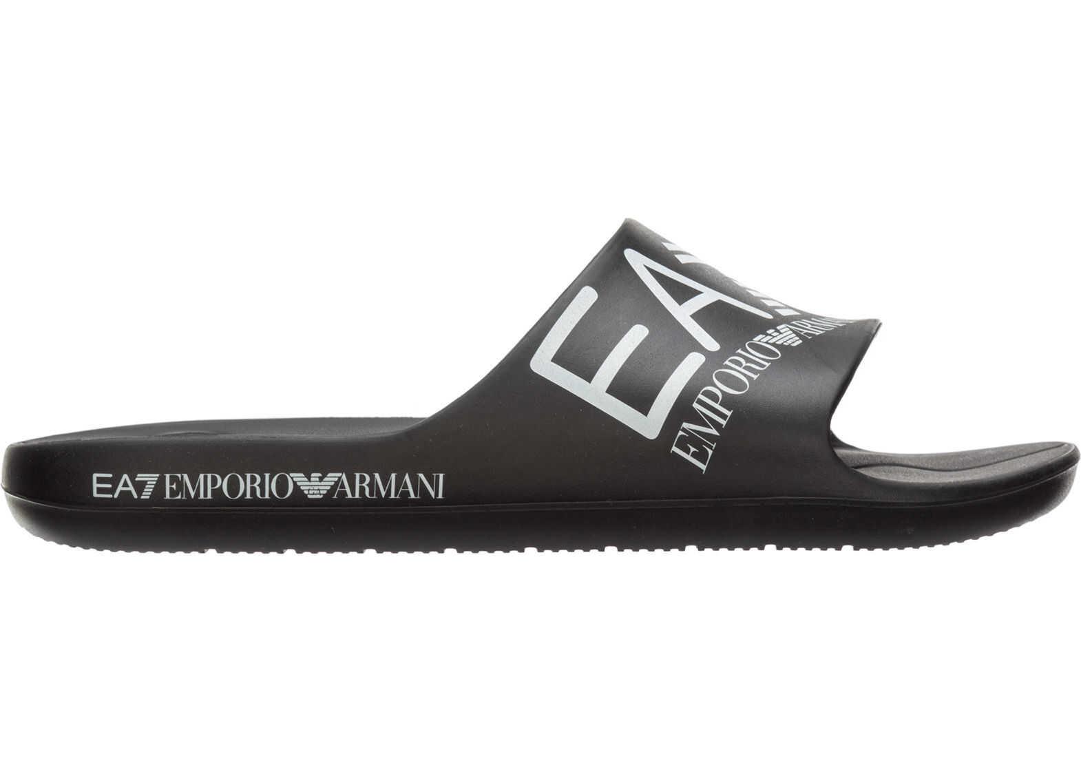 EA7 Sandals Rubber Black
