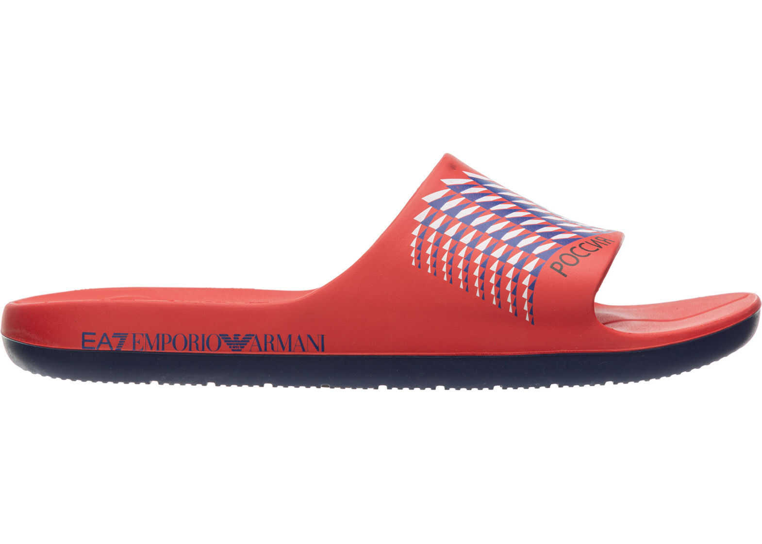 EA7 Sandals Rubber Red