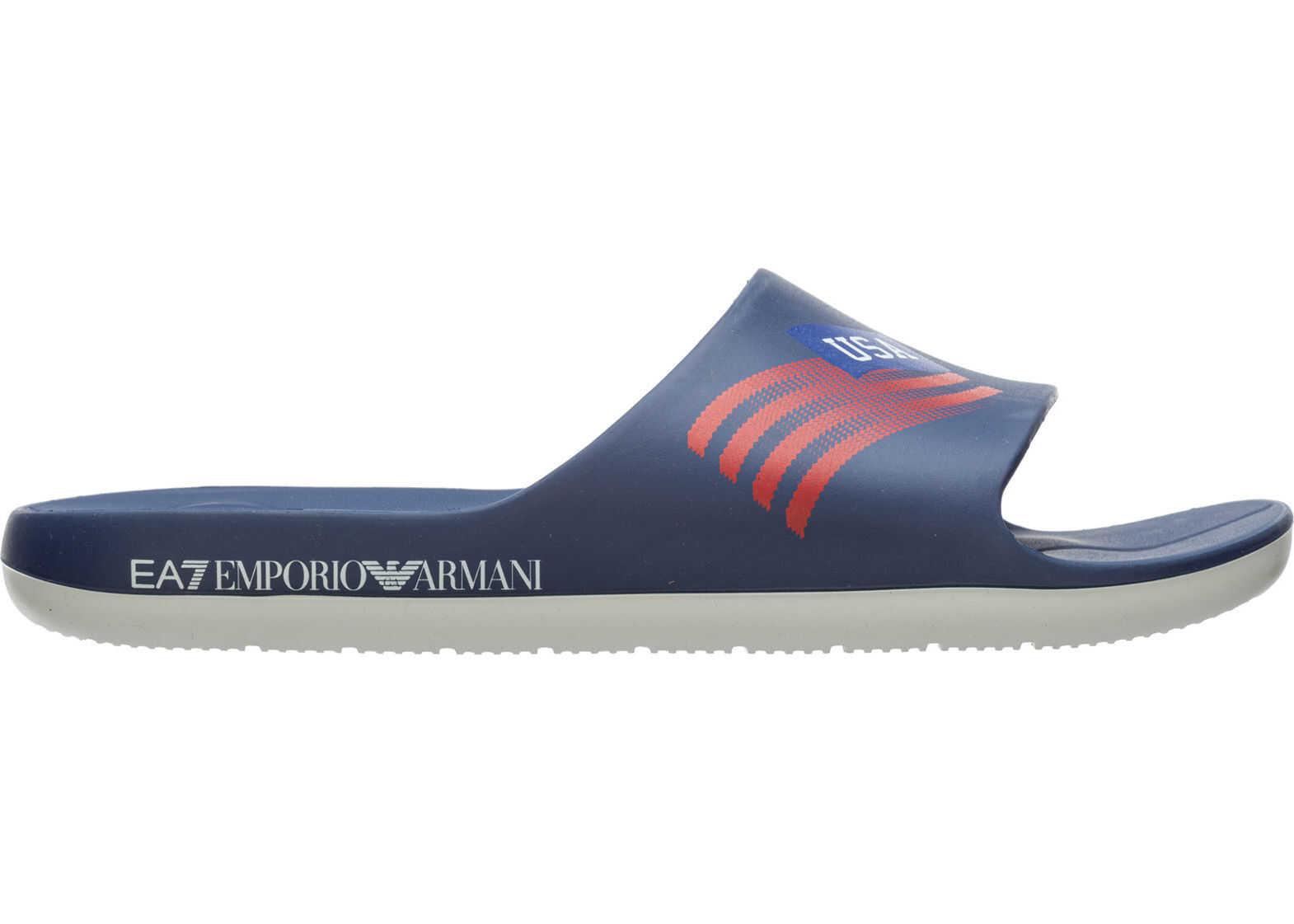 EA7 Sandals Rubber Blue