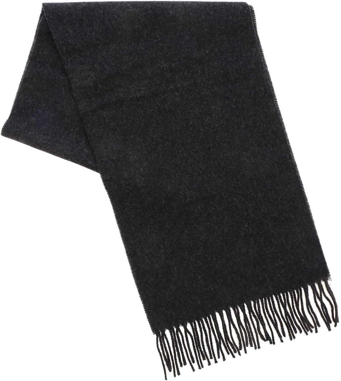 Vivienne Westwood Embroidered Logo Scarf In Anthracite Color Grey