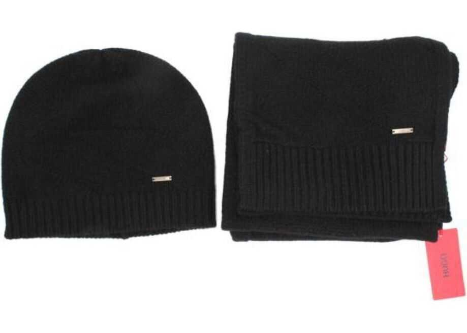 BOSS Hugo Boss Wool Scarf BLACK
