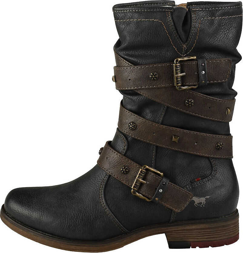 Mustang Winter Ankle Boots Biker Boots In Graphite Grey