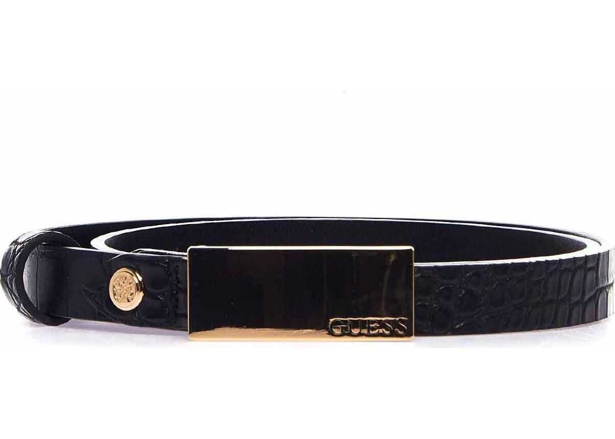GUESS Belt with metallic details Black